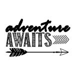Adventure Awaits…free Printable Art Print | Silouehette Stuff | Free   Free Printable Quote Stencils