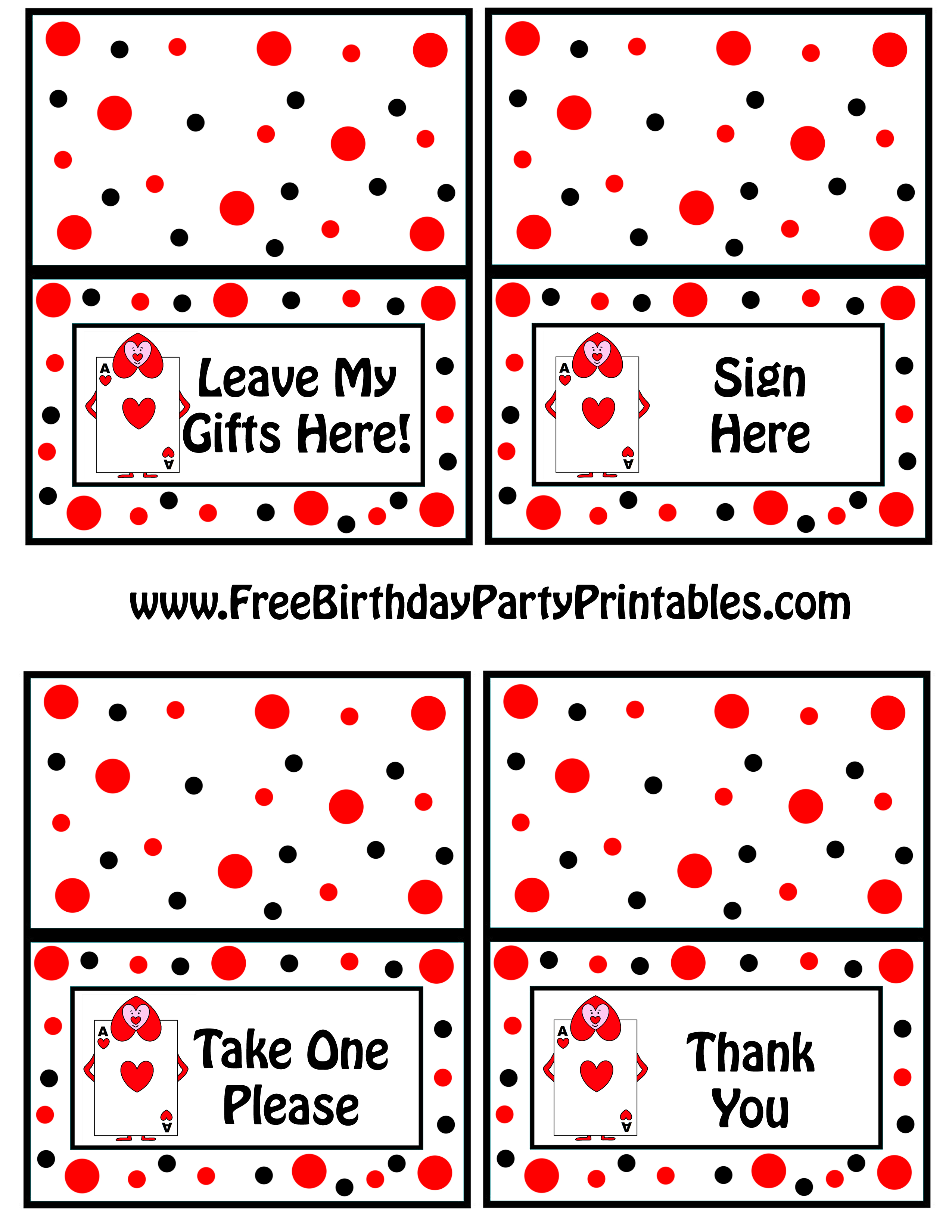 Alice In Wonderland Card Soldiers Printable Cutout - Free Printable Thank You Cards For Soldiers