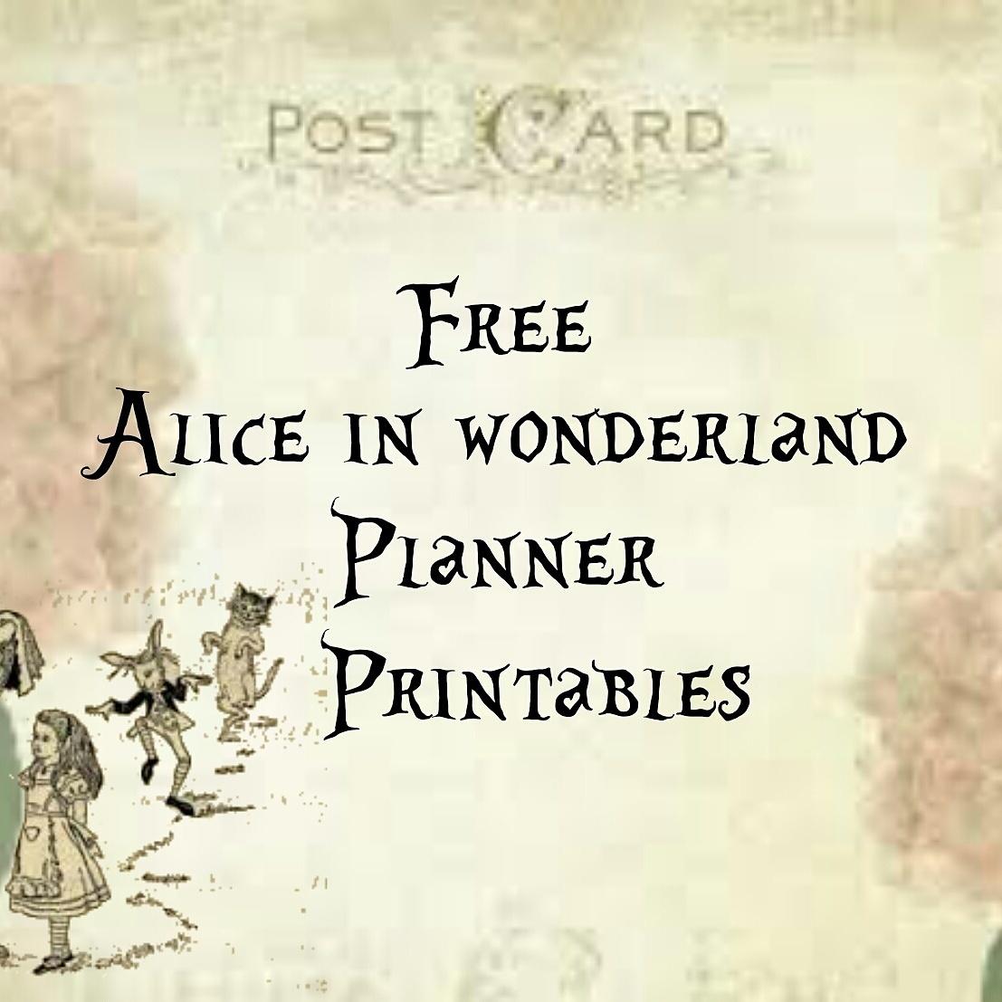 Alice In Wonderland Free Vintage Planner Printables – Lorraine A - Free Vintage Alice In Wonderland Printables
