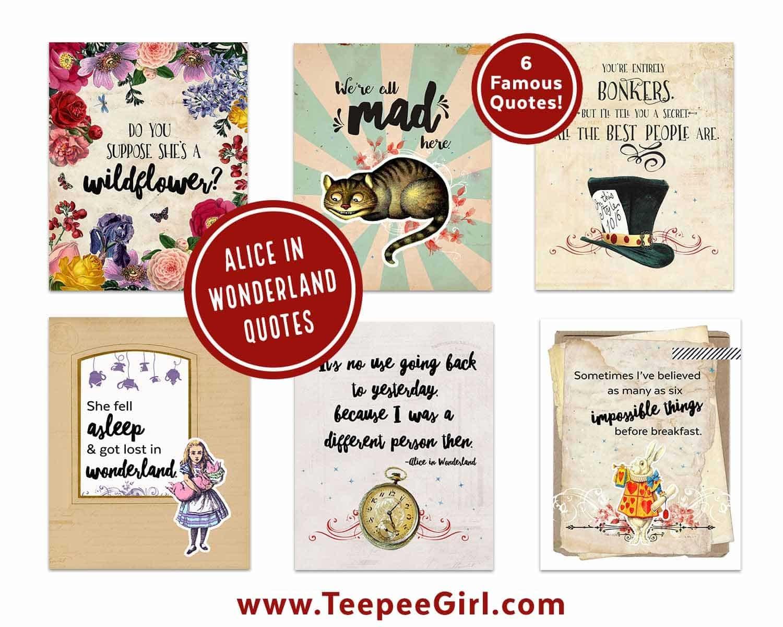 Alice In Wonderland Printables - Teepee Girl - Free Vintage Alice In Wonderland Printables