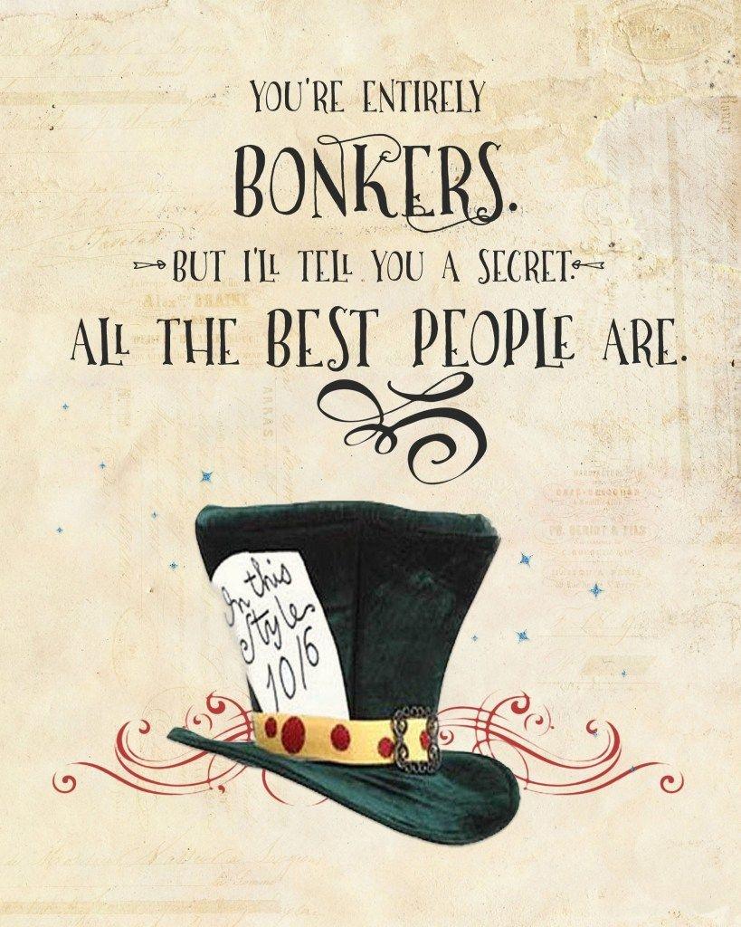 Alice In Wonderland Quote Printables   Alice In Wonderland (Down The - Free Vintage Alice In Wonderland Printables