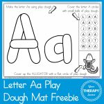 Alphabet Playdough Mat   Letter Aa   Your Therapy Source   Alphabet Playdough Mats Free Printable