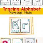 Alphabet Tracing Mats   Play Dough Mats | Alphabet Letter Activities   Alphabet Playdough Mats Free Printable