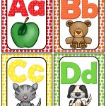 Alphabet Word Wall Cards & Abc Chart | Best Of Kindergarten | Word   Free Printable Alphabet Letters For Display