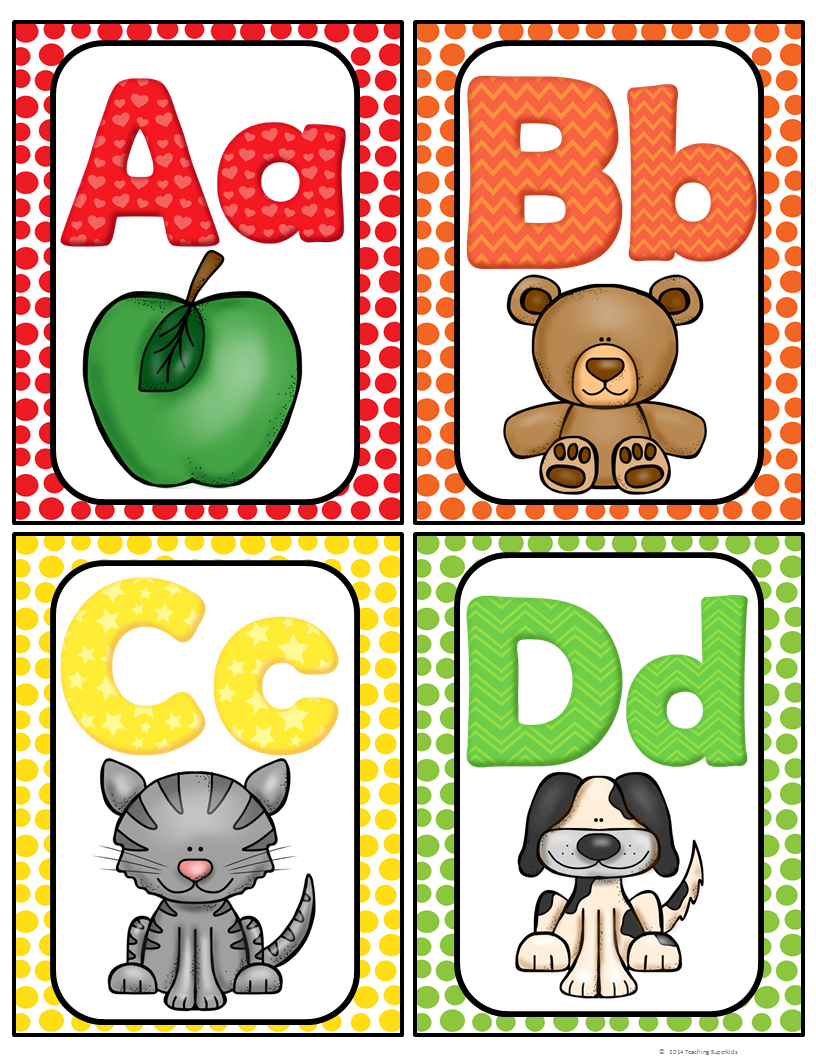 Alphabet Word Wall Cards & Abc Chart | Best Of Kindergarten | Word - Free Printable Alphabet Letters For Display