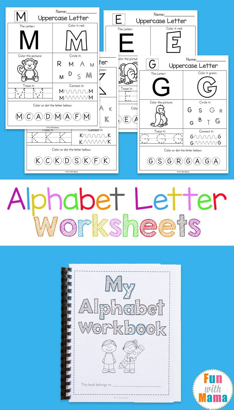 Alphabet Worksheets | Free Printables | Letter Worksheets, Alphabet - Free Printable Alphabet Worksheets