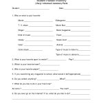 An Informal Student Interest Survey | Assessing Student Interest   Printable Career Interest Survey For High School Students Free