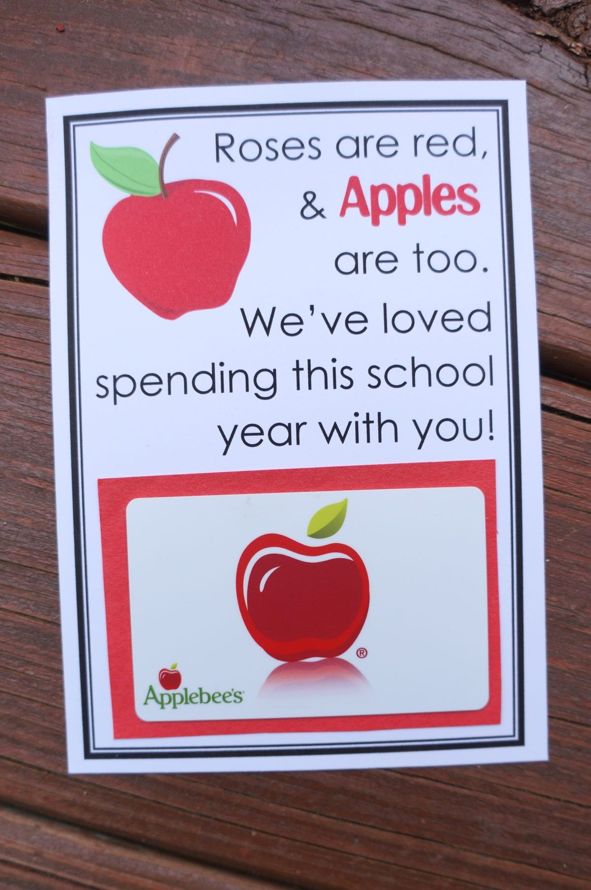 Apple-Themed Teacher Gifts & Free Printables | Teacher Appreciation - Free Printable Teacher Appreciation Greeting Cards