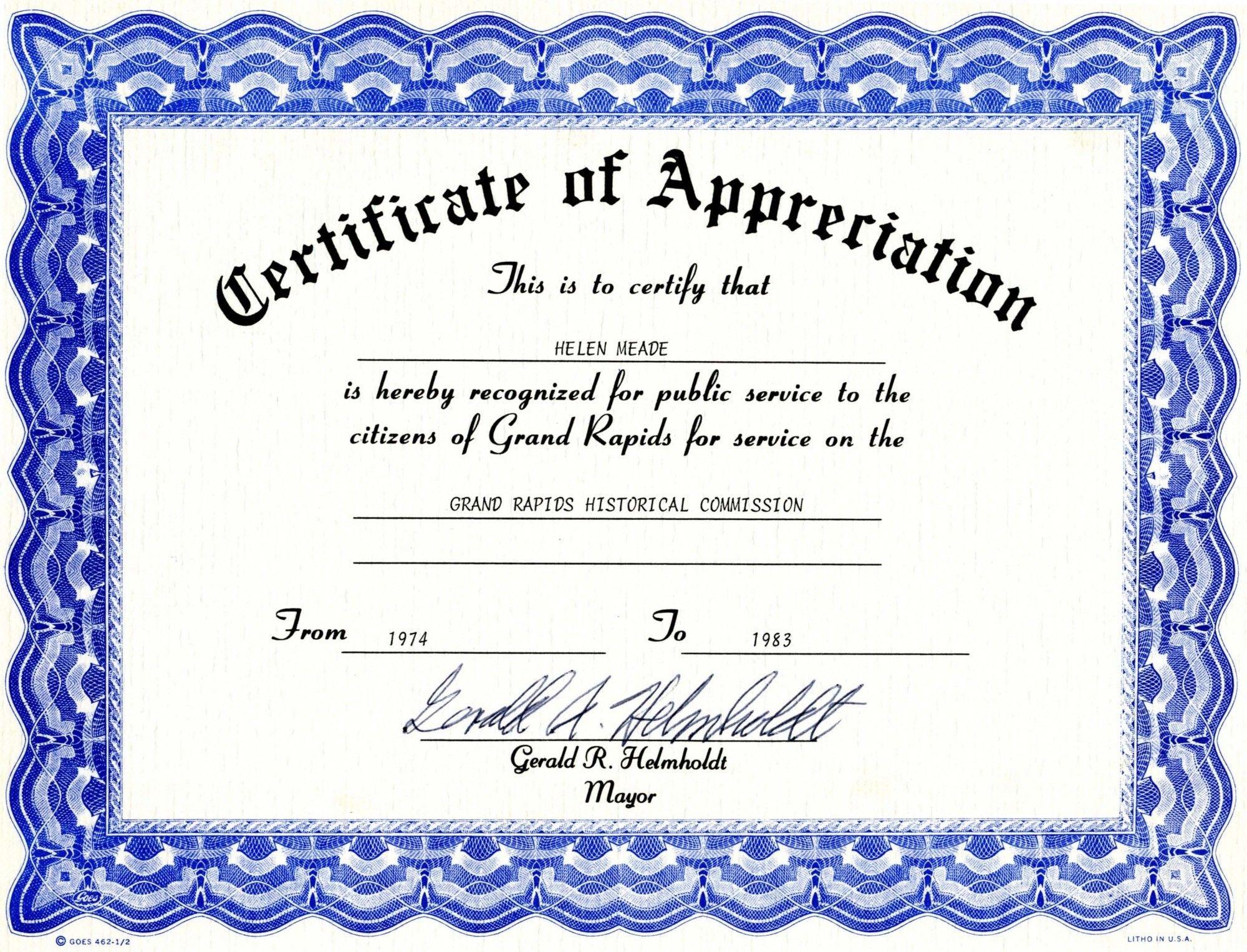 Appreciation Certificate Templates Free Download | Besttemplates123 - Free Printable Blank Certificate Templates