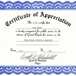 Appreciation Certificate Templates Free Download   Free Printable Templates For Certificates Of Recognition