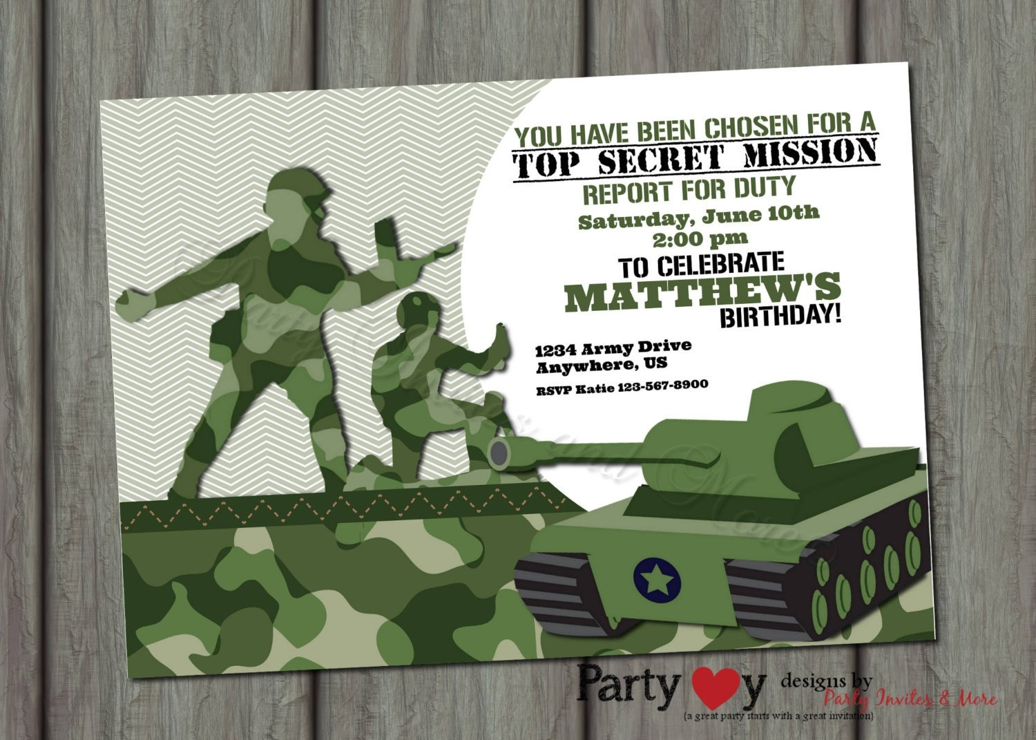 Army Invitations - Anarchistshemale - Free Printable Camouflage Invitations