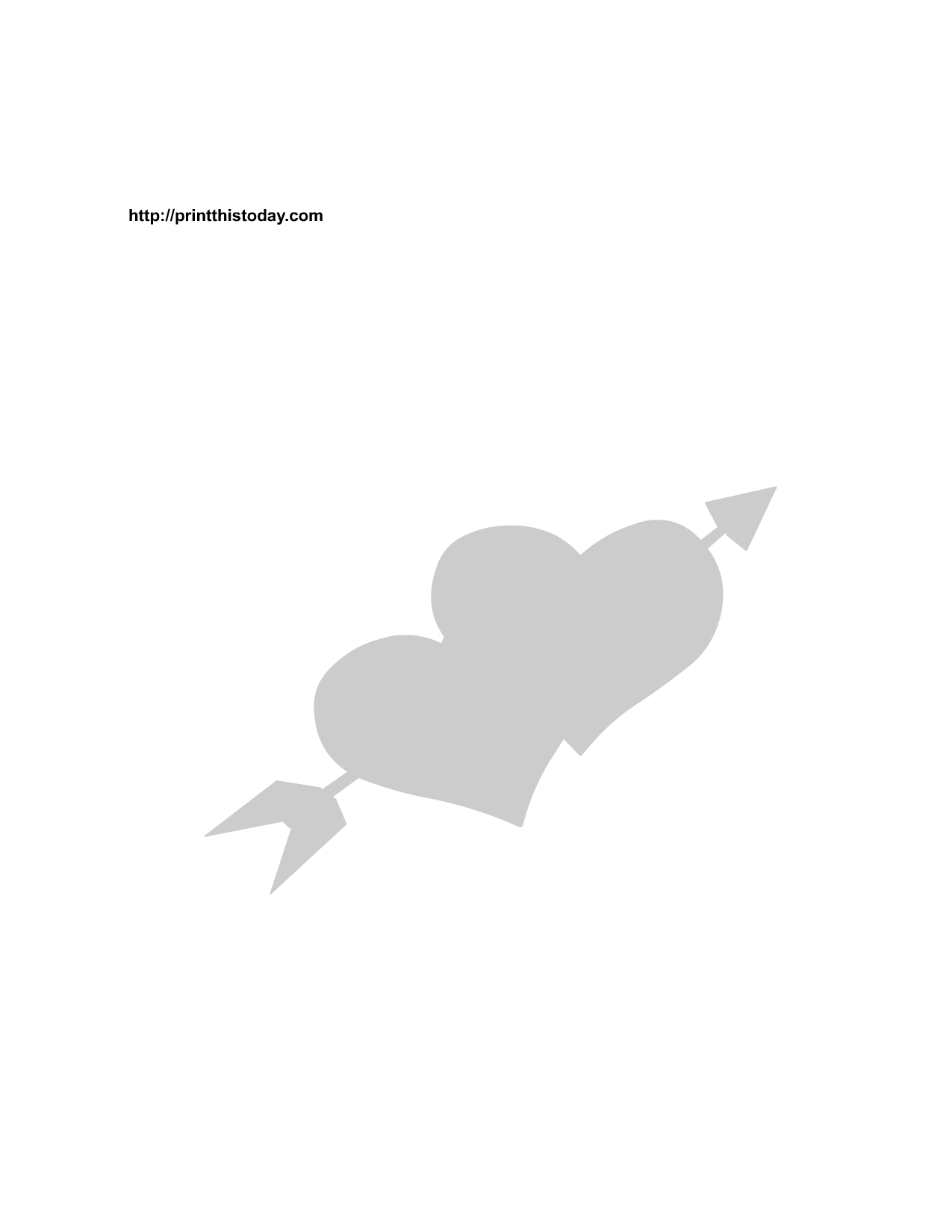 Arrow And Hearts Stencil | Print It | Stencils, Free Stencils, Heart - Free Printable Arrow Stencils