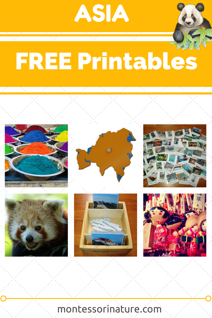 Asia - Free Printables. Resources For The Montessori Classroom - Free Montessori Printables