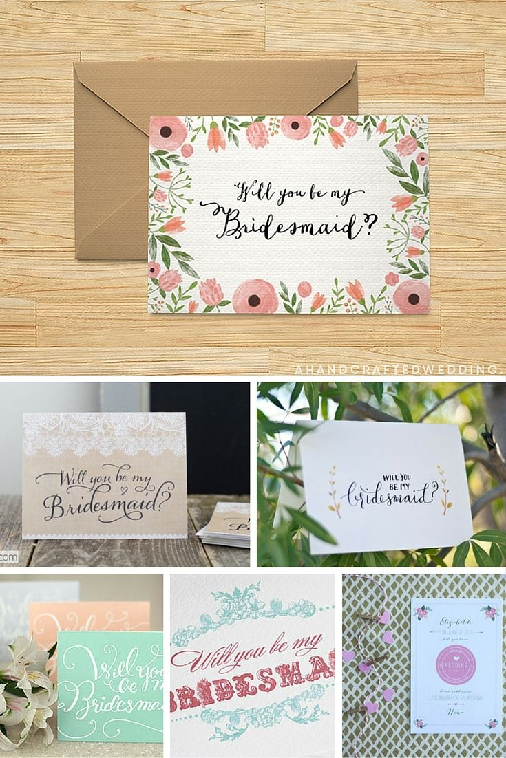 Ask Your Girlfriend To Be You Bridesmaid In Style With These Free - Free Printable Will You Be My Bridesmaid Cards