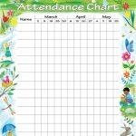 Attendance Chart | Children's Church | Attendance Chart, Sunday   Sunday School Attendance Chart Free Printable
