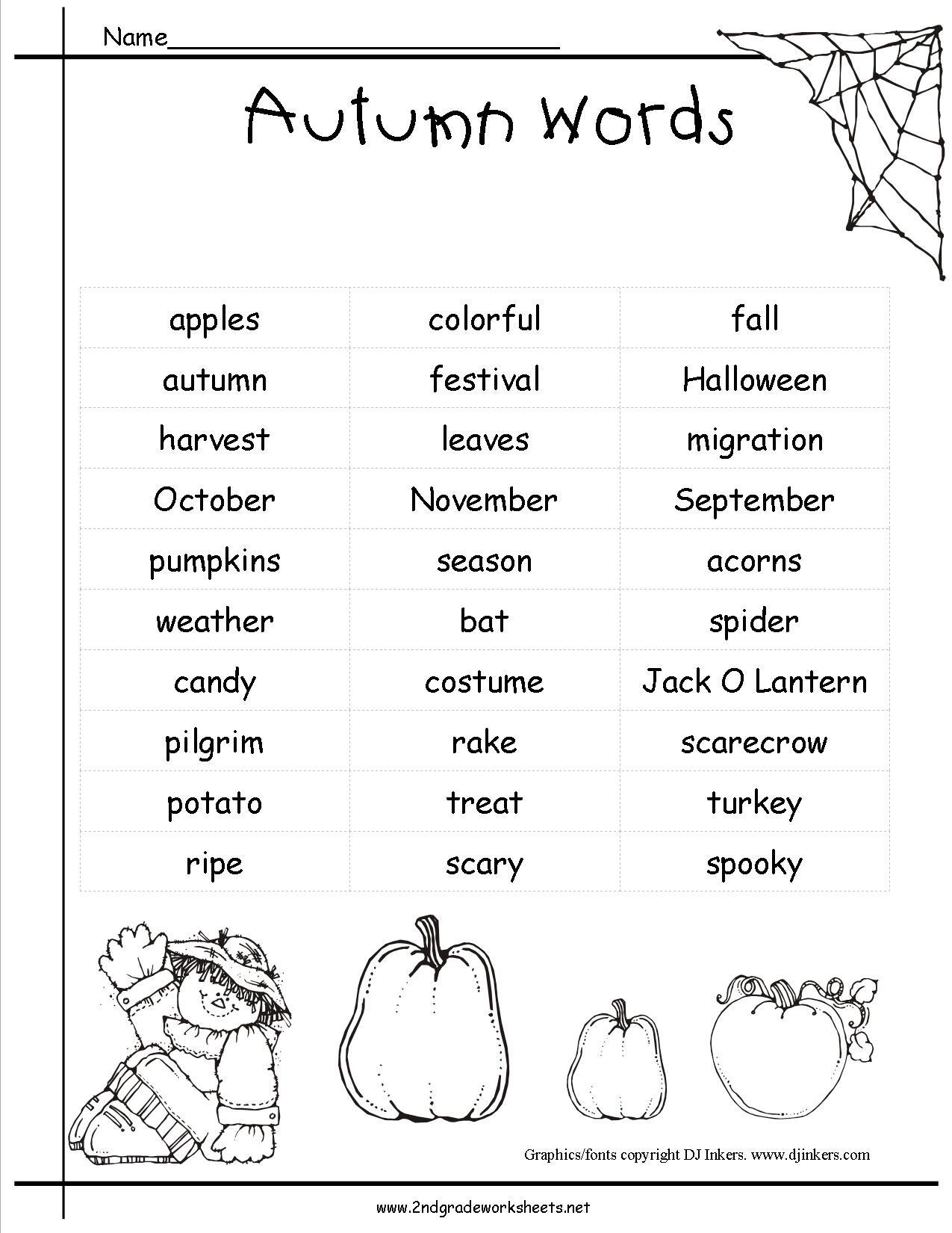 Autumn Theme Worksheets And Printouts. - Free Printable Autumn Worksheets