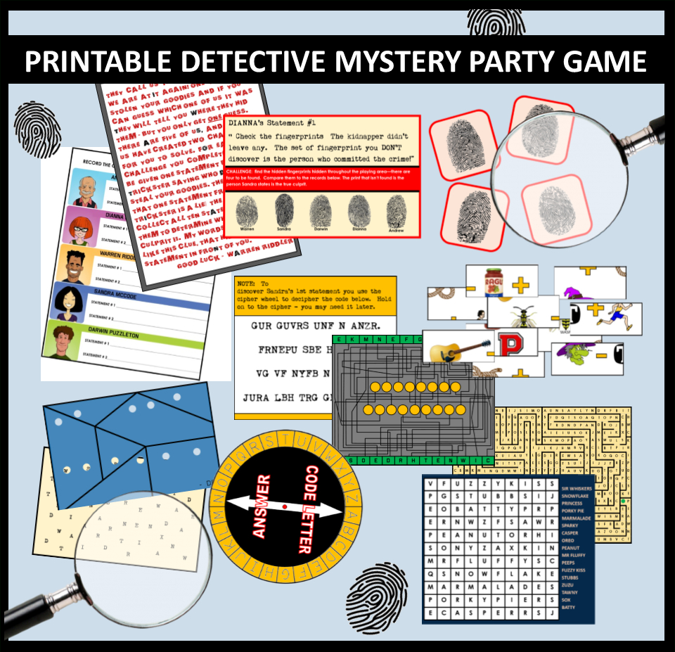 Awesome Diy Spy Party Games And Secret Agent Themed Activities That - Free Printable Detective Games