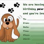 Awesome Dog Birthday Party Invitations Templates Free | Best Of Template   Dog Birthday Invitations Free Printable