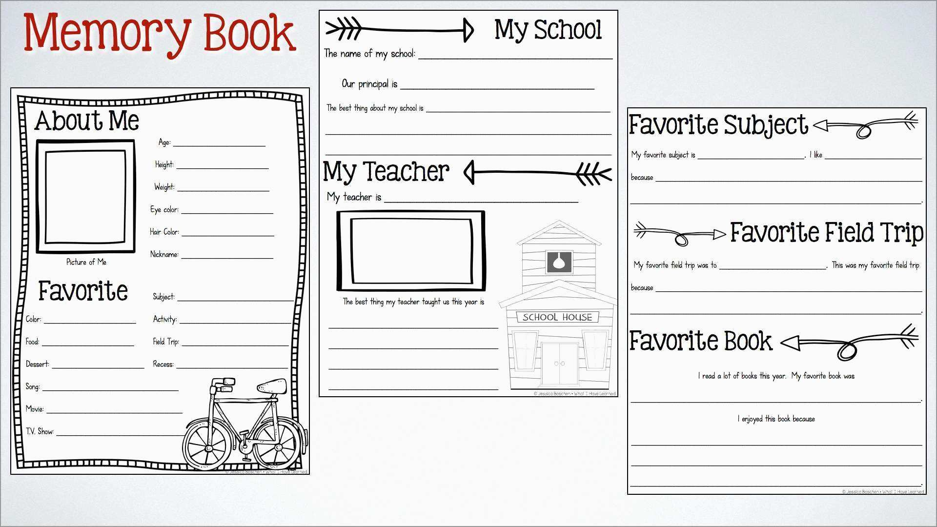 Awesome Free Printable Memory Book Templates | Best Of Template - Free Printable Memory Book Templates