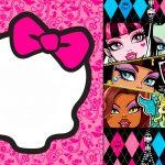 Awesome Free Printable Monster High Birthday Invitations Layout   Free Printable Monster High Stickers