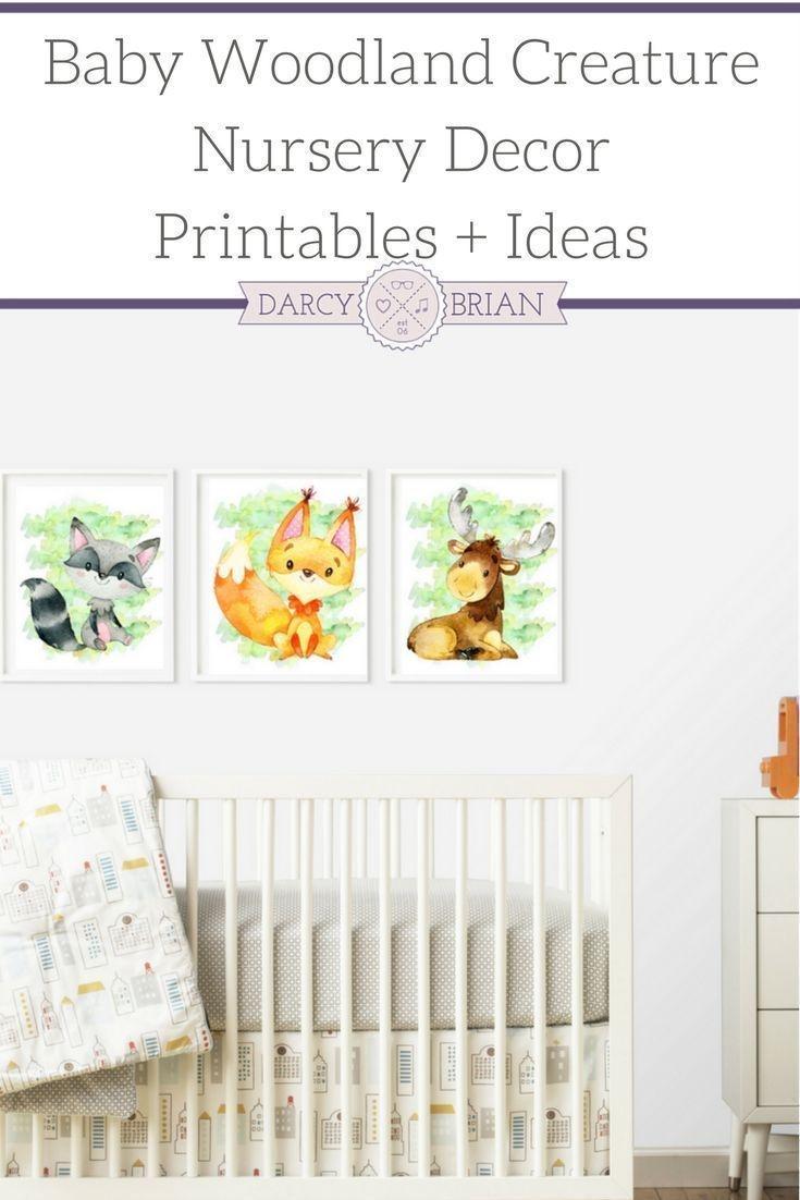 Baby Creature Woodland Nursery Printable Posters | Parenting Tips - Free Printable Nursery Resources