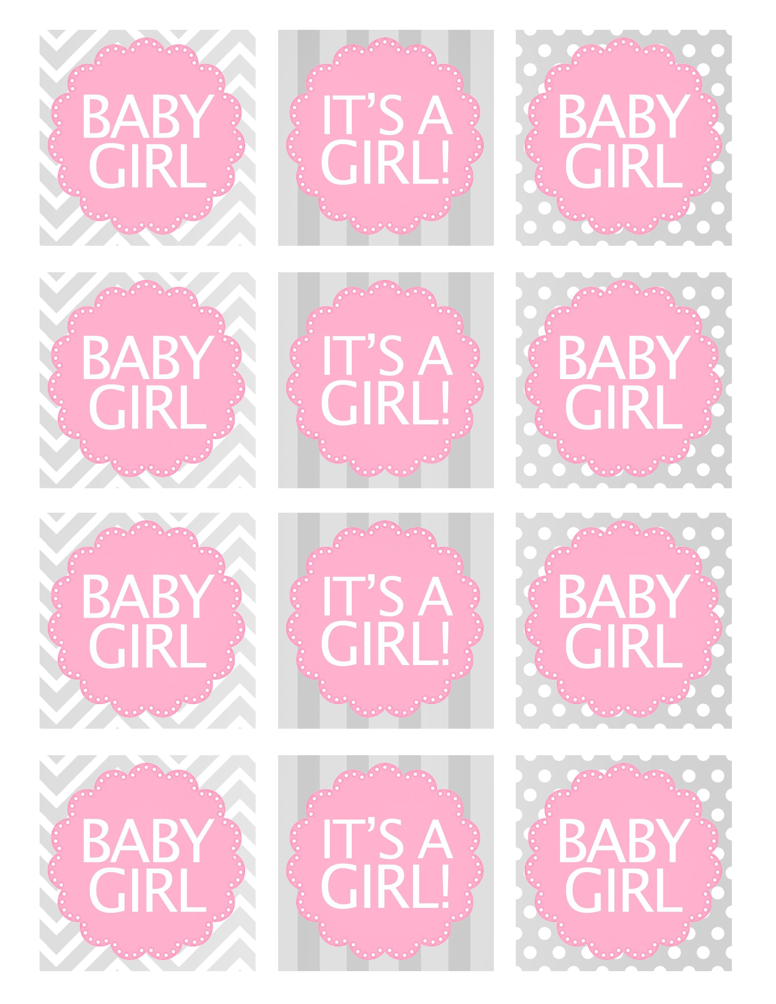 Baby Girl Shower Free Printables | Baby Shower Ideas | Baby Shower - Free Pink Elephant Baby Shower Printables