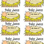 Baby Jesus In A Manger (See Black And White Template) | Christmas   Free Printable Christmas Plays For Sunday School
