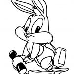 Baby Looney Tunes Lovely Bugs Bunny Coloring Page | Free Printable   Free Printable Bugs Bunny Coloring Pages