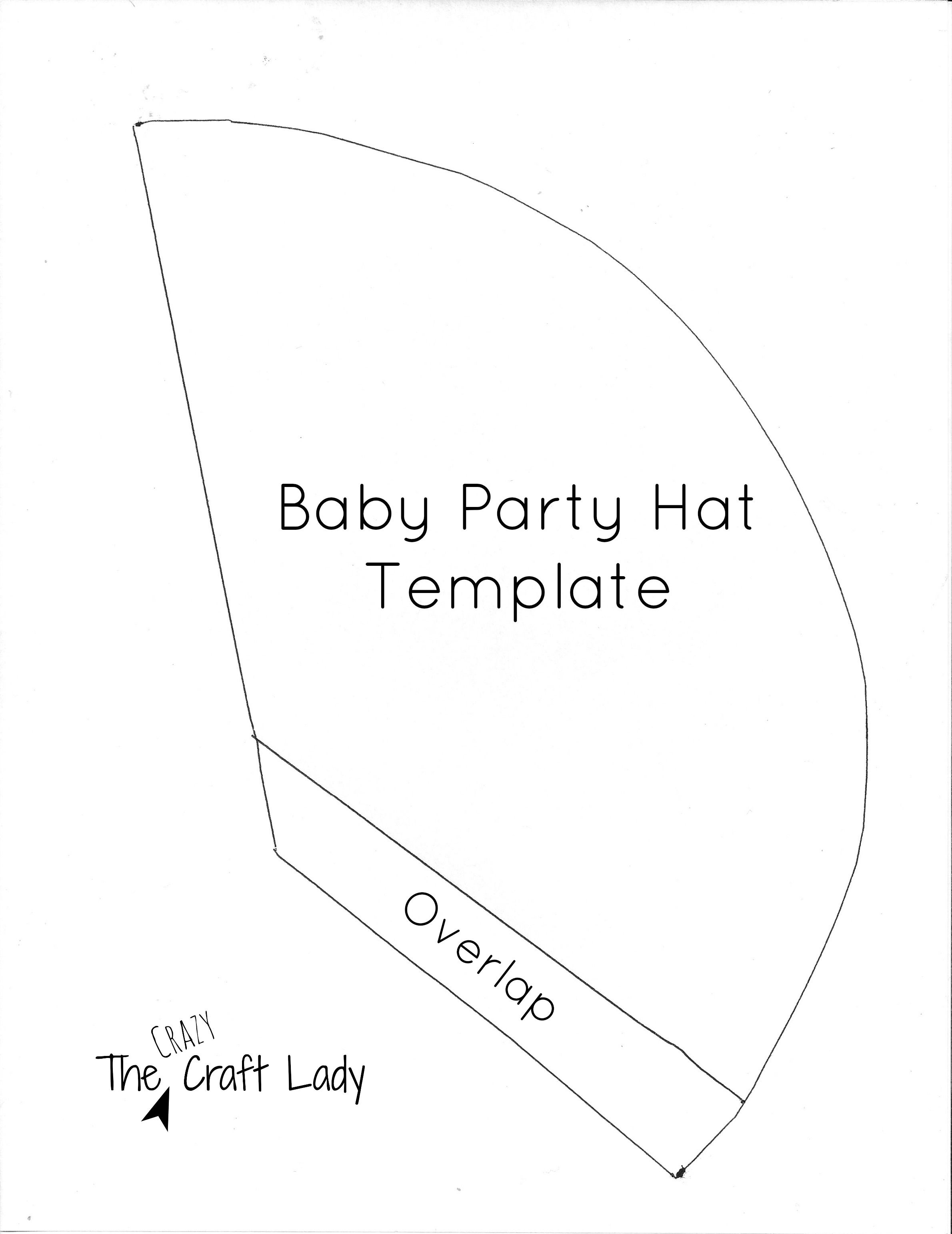Baby Party Hats And Free Printable Template | Collin | Diy Birthday - Free Printable Birthday Hat Template