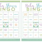 Baby Shower Bingo   A Classic Baby Shower Game That's Super Easy To Plan   Baby Bingo Game Free Printable