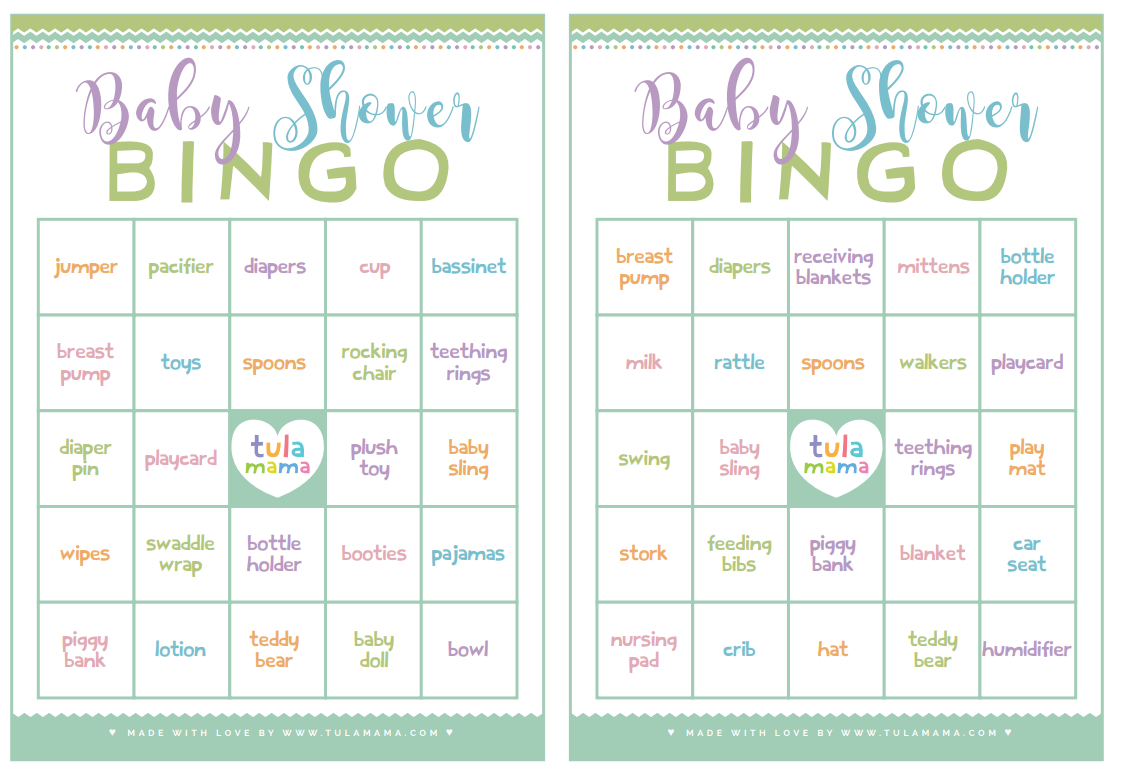 Baby Shower Bingo - A Classic Baby Shower Game That's Super Easy To Plan - Free Printable Baby Shower Bingo