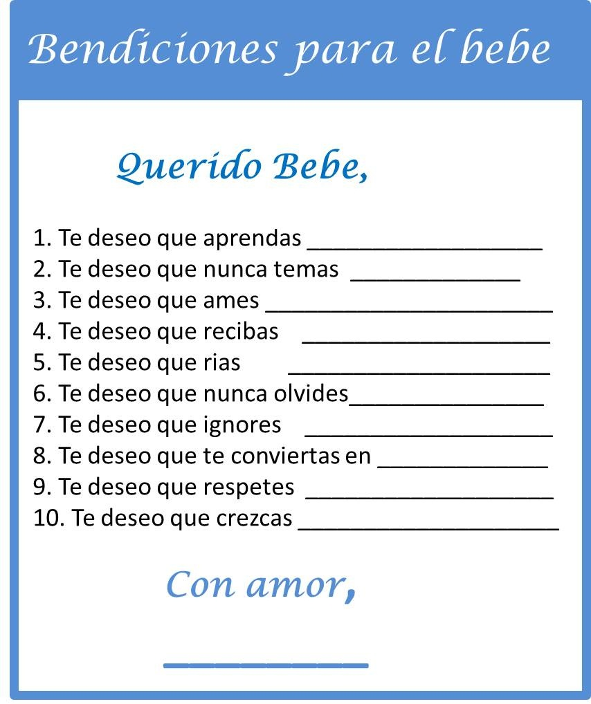Baby Shower Food Ideas: Baby Shower Games Ideas In Spanish - Free Printable Baby Shower Games In Spanish