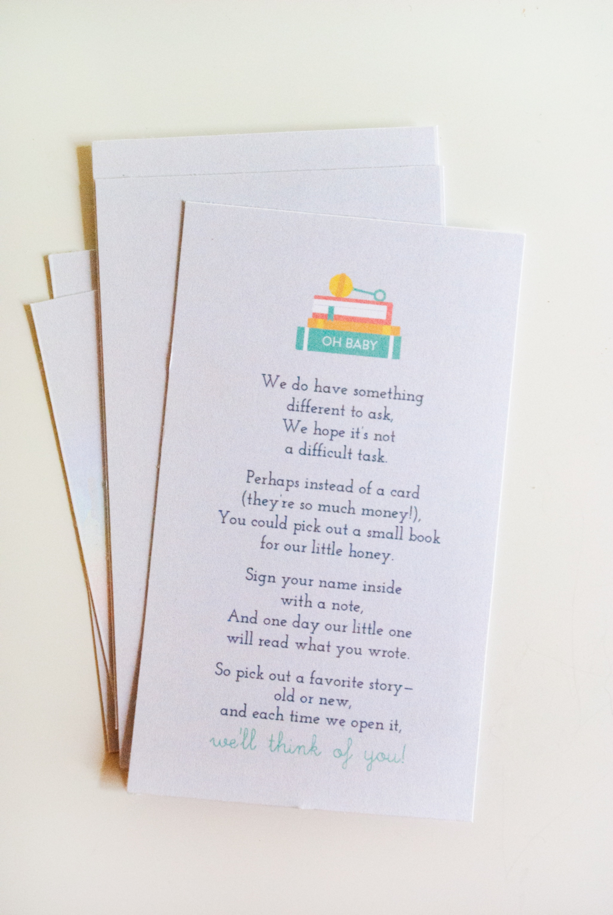Baby Shower Tip: How To Kick-Off Baby's First Library + Free - Bring A Book Instead Of A Card Free Printable