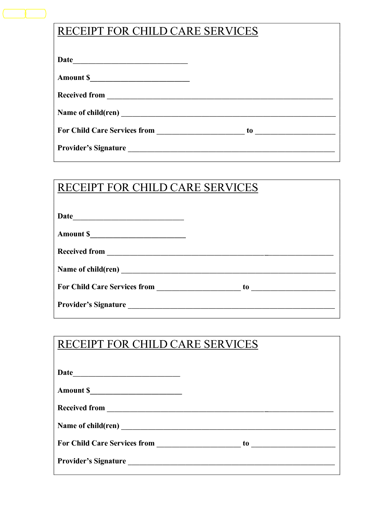 Babysitting Receipt - Bing Images | Baby | Child Care Services - Free Printable Daycare Receipts