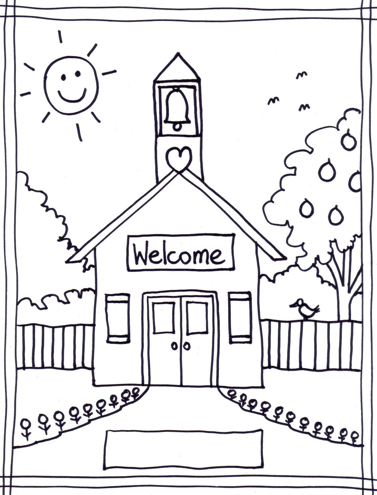 Back To School Coloring Pages Free Printables Image 22 … | Classroom - Free Printable First Day Of School Coloring Pages