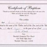 Baptism Certificates Free Online | Denver's Certificate Of Baptism   Free Online Printable Baptism Certificates