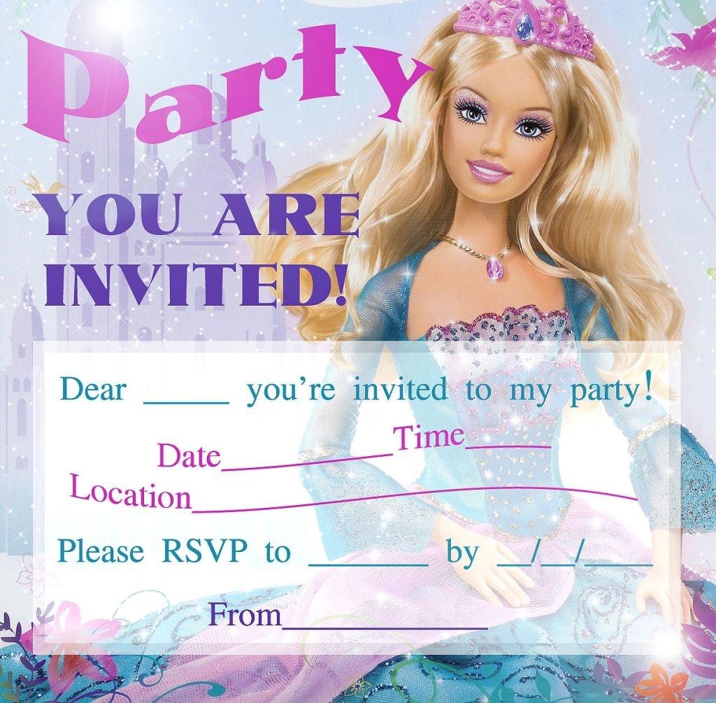Barbie Birthday Invitations Free Printable | Barbie In 2019 | Barbie - Free Printable Barbie Birthday Party Invitations