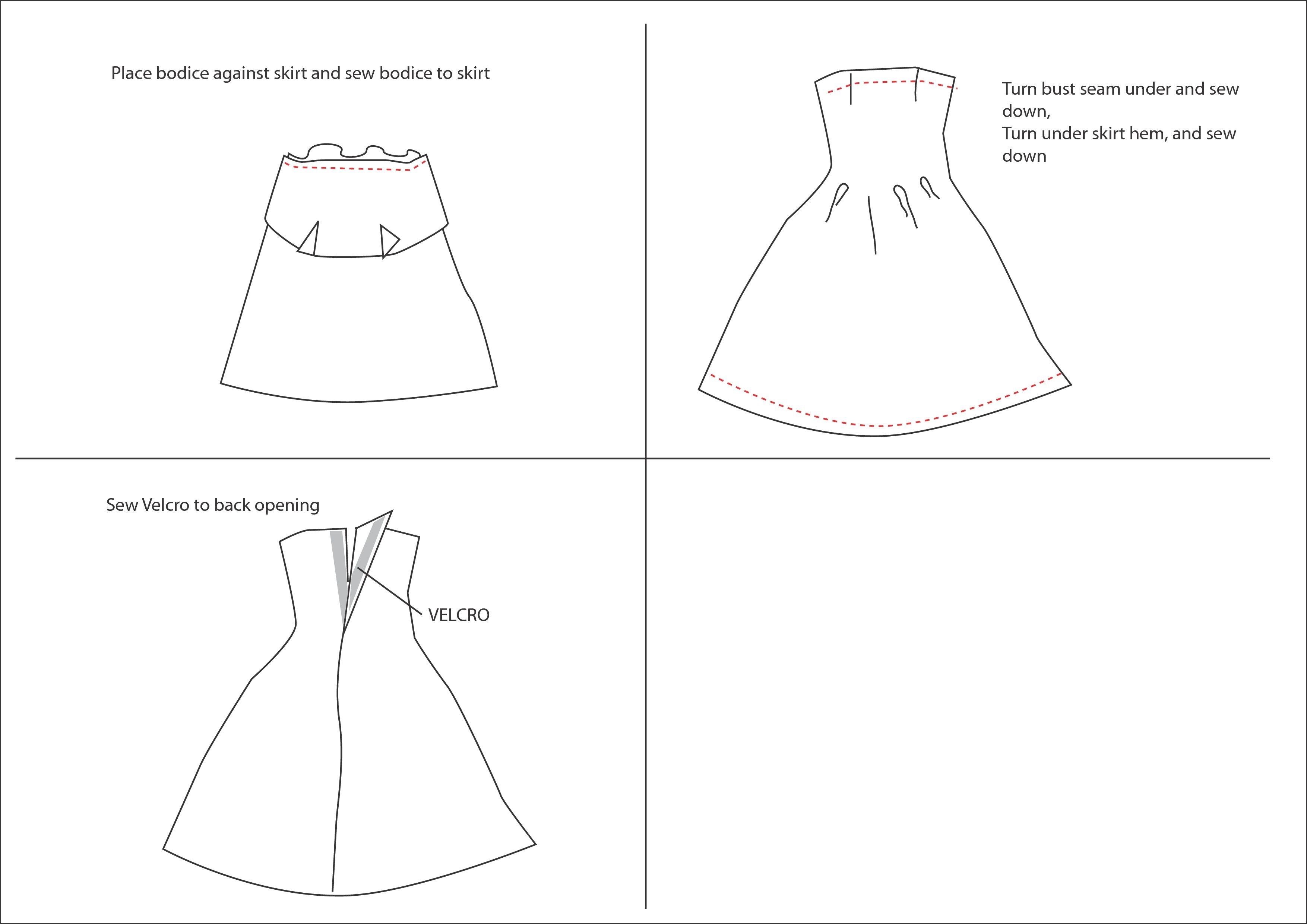 Barbie Dress Patterns Free Printable Pdf - Barbie Dress Patterns Free Printable Pdf