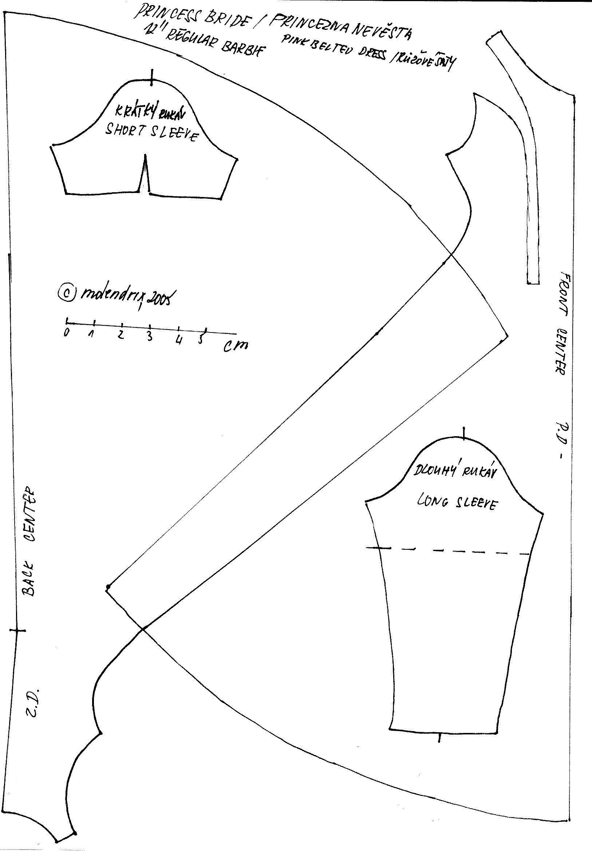 Barbie Skirt Patterns Free Printable Pdf | Saddha - Barbie Dress Patterns Free Printable Pdf