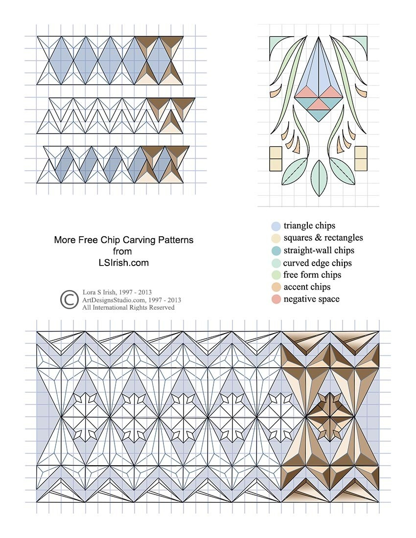Basic Techniques For Chip Carving, Free Online Wood Carving Project - Free Printable Chip Carving Patterns