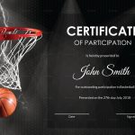 Basketball Participation Certificate Design Template In Psd, Word   Basketball Participation Certificate Free Printable