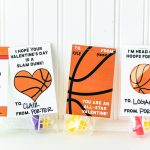 Basketball Valentine Card Free Printable   Free Printable Basketball Cards