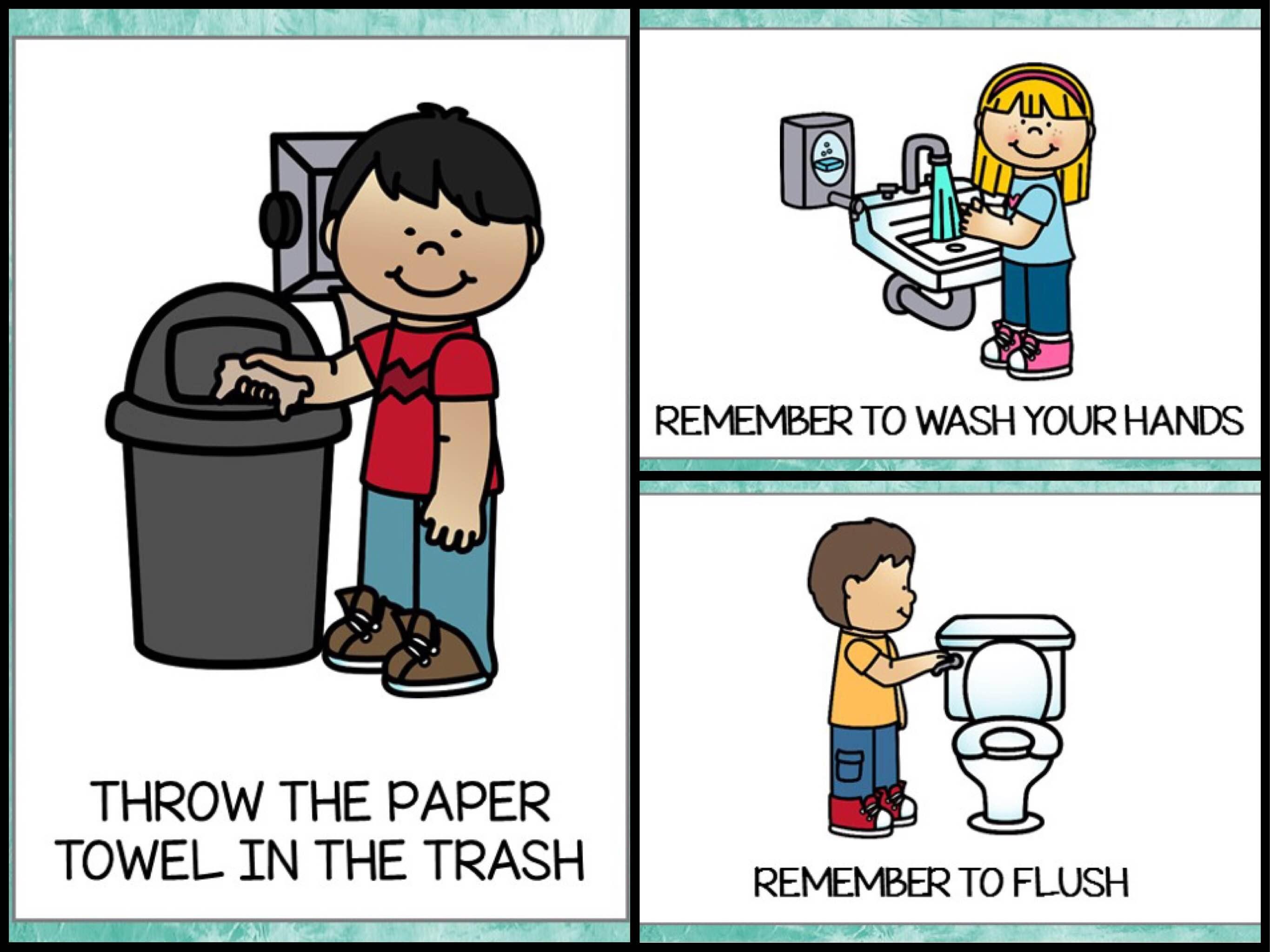 Bathroom Posters {Free Printable} - Teach Junkie - Free Printable Preschool Posters