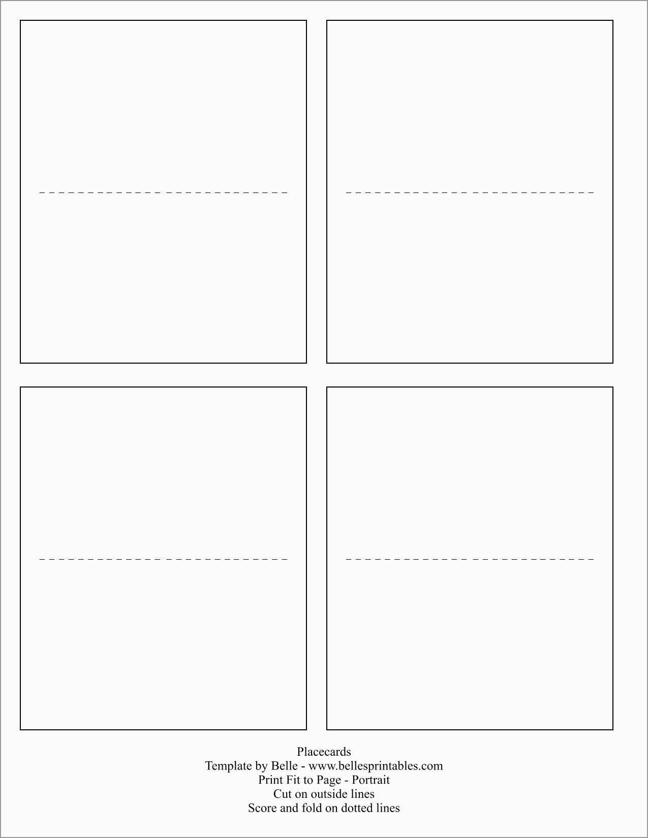 Beautiful Free Place Card Template Word   Best Of Template - Free Printable Place Cards Template
