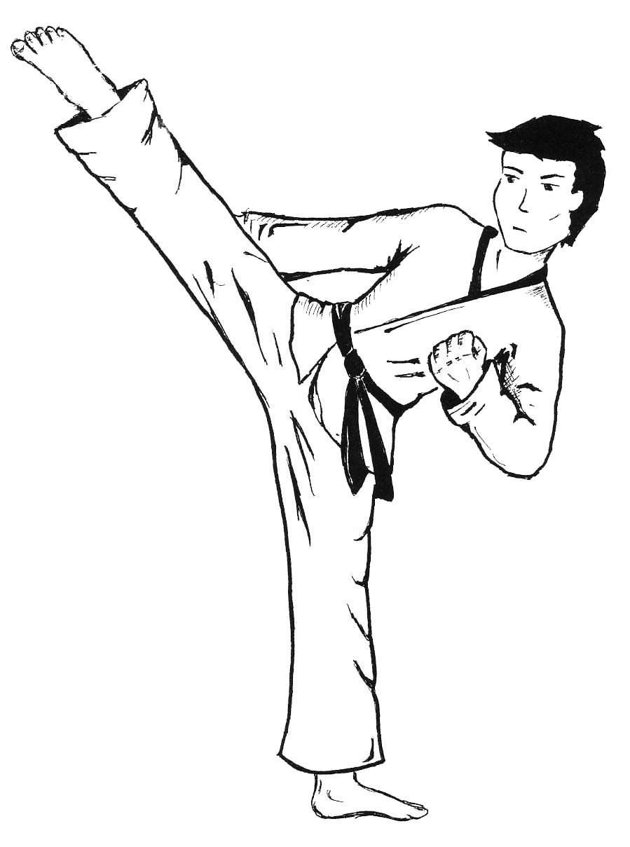 Beautiful Free Printable Karate Coloring Pages   Coloring Pages - Free Printable Karate Coloring Pages