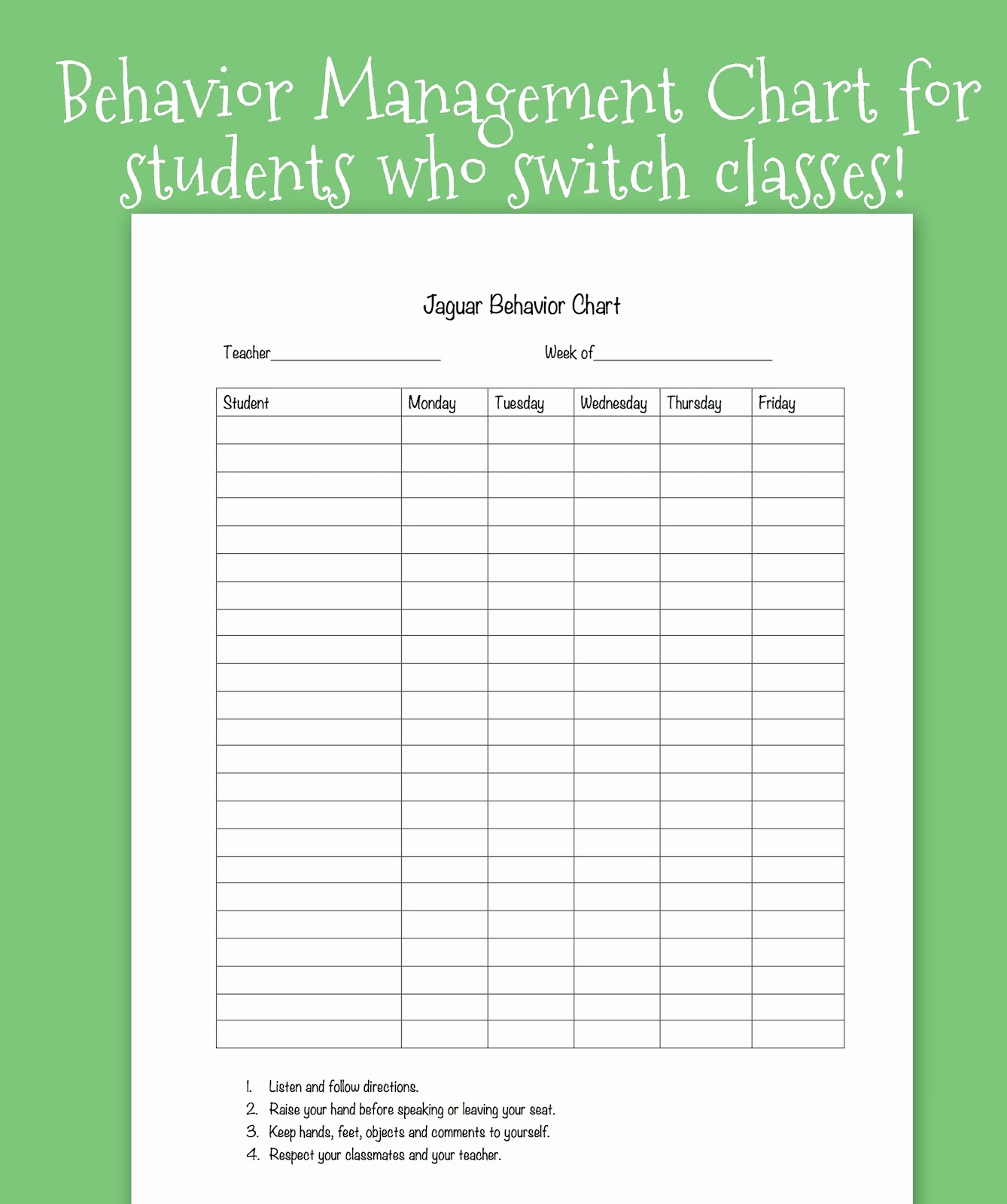 Behavior Chart Template High School Free Printable Behavior Charts - Free Printable Behavior Charts