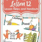 Behold Your Little Ones Lesson 12: I Can Pray With My Family   Free Printable Nursery Resources