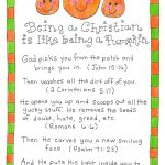 Being A Christian Is Like Being A Pumpkin   Free Printable | Fall   Free Christian Pumpkin Carving Printables