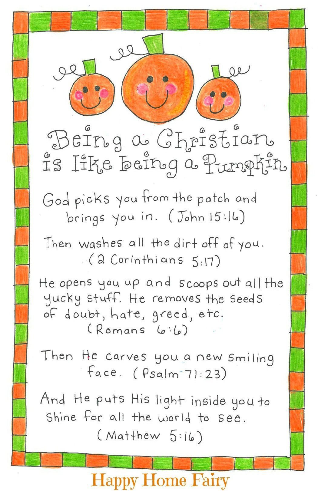 Being A Christian Is Like Being A Pumpkin - Free Printable | Fall - Free Christian Pumpkin Carving Printables