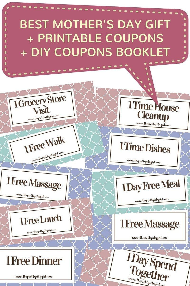 Best Mother's Day Gift + Free Printable Coupons + Diy Coupons - Free Massage Coupon Printable